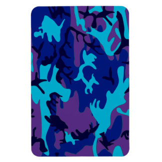 Dark Blue and Purple Camouflage Premium Magnet