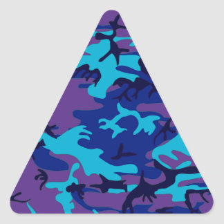 Dark Blue and Purple Camouflage Triangle Stickers