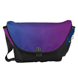 Dark Blue And Purple Large Courier Bag