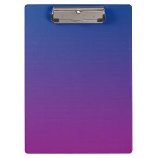 """""""Dark Blue And Purple Ombre"""" Clipboard"""