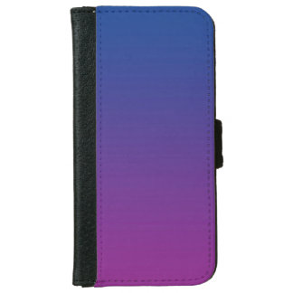 """Dark Blue And Purple Ombre"" iPhone 6/6s Wallet Case"
