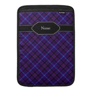 Dark Blue and Purple Tartan Plaid Pattern Sleeve For MacBook Air