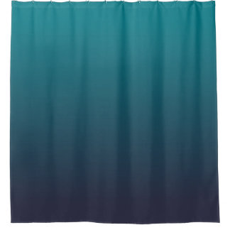 dark teal shower curtain. dark blue and teal ombre shower curtain r