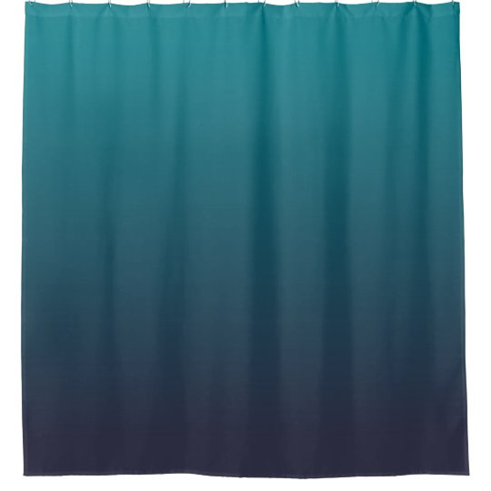 Dark Blue and Teal Ombre Shower Curtain | Zazzle.com