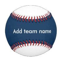 Dark Blue and White Baseball
