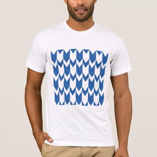 Dark Blue and White Chevron Pattern. T-Shirt