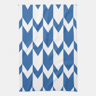 Dark Blue and White Chevron Pattern. Towel