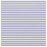 [ Thumbnail: Dark Blue and White Colored Pattern Fabric ]