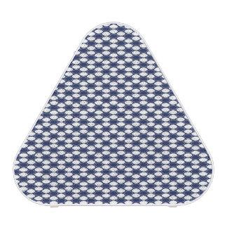 Dark Blue and White Oval Pattern Bluetooth Speaker