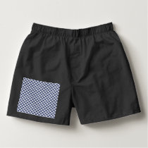 Dark Blue and White Oval Pattern Boxers