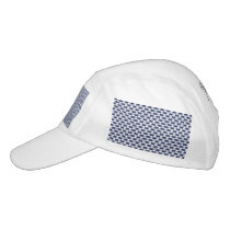 Dark Blue and White Oval Pattern Headsweats Hat