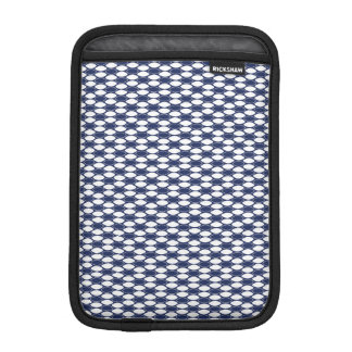 Dark Blue and White Oval Pattern Sleeve For iPad Mini