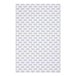 Dark Blue and White Oval Pattern Stationery