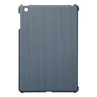 Dark Blue and White Pinstripe Cover For The iPad Mini