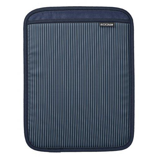 Dark Blue and White Pinstripe iPad Sleeve