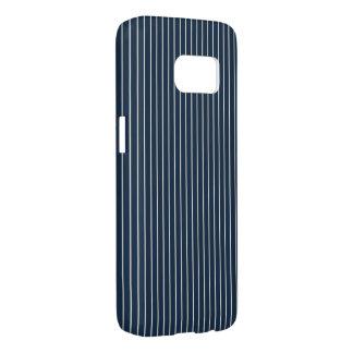 Dark Blue and White Pinstripe Samsung Galaxy S7 Case