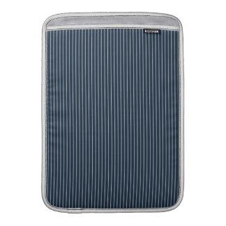 Dark Blue and White Pinstripe Sleeve For MacBook Air