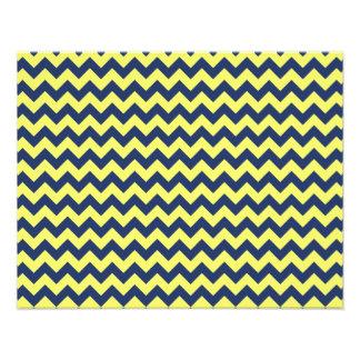 Dark Blue and Yellow Chevron Zig Zag Pattern Photo Art