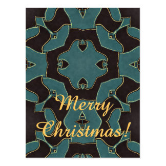 Dark Blue Arabesque Postcard