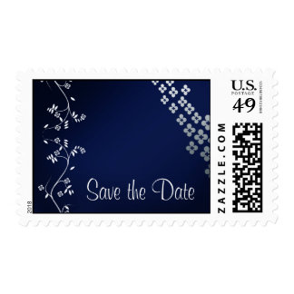 Dark Blue Asian theme save the date Stamp