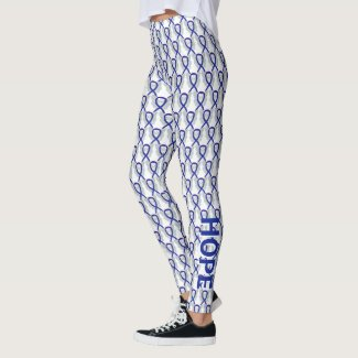 Dark Blue Awareness Ribbon Angel Custom Leggings