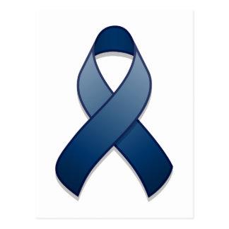Dark Blue Awareness Ribbon Postcard