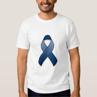 Dark Blue Awareness Ribbon T-Shirt