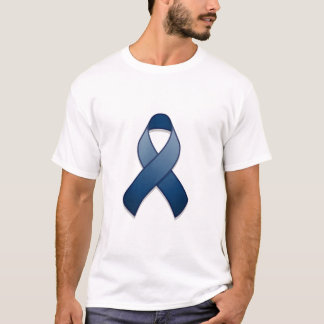 Dark Blue Awareness Ribbon T-Shirt