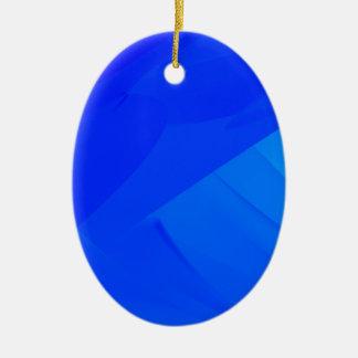 Dark Blue Backdrop Ceramic Ornament