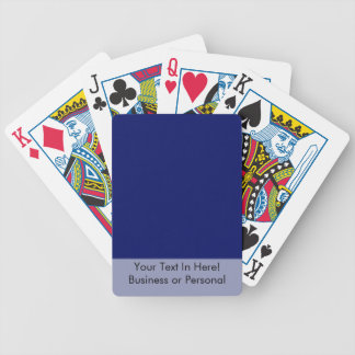 Dark Blue Background Bicycle Playing Cards
