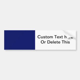 Dark Blue Background Bumper Sticker