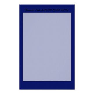 Dark Blue Background Stationery