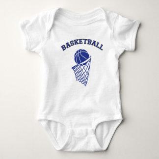 Dark Blue Basketball | Sports Baby Bodysuit