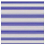 [ Thumbnail: Dark Blue & Beige Colored Pattern of Stripes Fabric ]