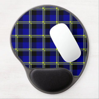Dark Blue, Black and Yellow Plaid Gel Mouse Pad