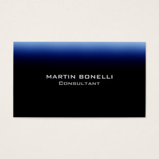 Dark Blue Black Trendy Plain Clean Business Card