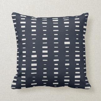 Dark Blue Block Stripe Pillow