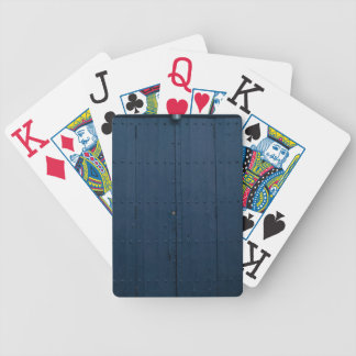Dark Blue Boathouse Door Costa Brava Spain Bicycle Playing Cards