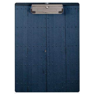 Dark Blue Boathouse Door Costa Brava Spain Clipboard
