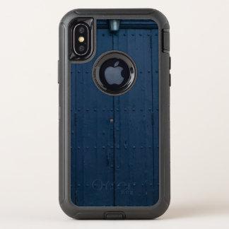 Dark Blue Boathouse Door Costa Brava Spain OtterBox Defender iPhone X Case
