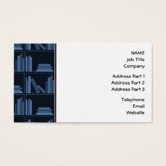 Dark Blue Books on Shelf. Business Card