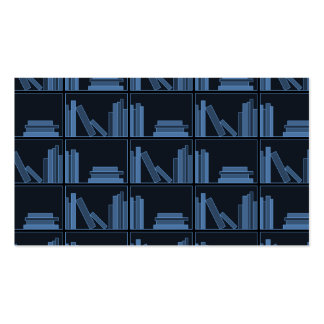 Dark Blue Books on Shelf. Double-Sided Standard Business Cards (Pack Of 100)