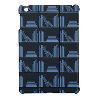 Dark Blue Books on Shelf iPad Mini Cases