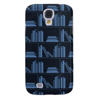 Dark Blue Books on Shelf. Samsung Galaxy S4 Cover