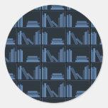 Dark Blue Books on Shelf. Sticker