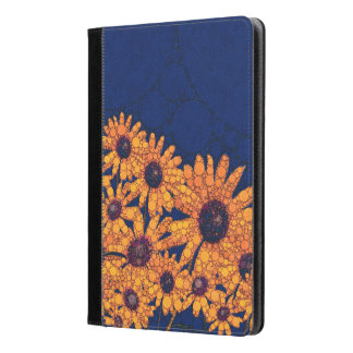 Dark Blue Bright Orange Sunflowers iPad Air Case