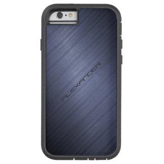Dark Blue Brushed Aluminum Metal Look 2-Monogram iPhone 6 Case