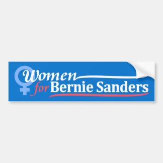 Dark Blue Bumper Sticker Women for Bernie Sanders