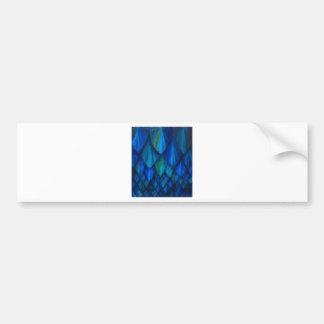 Dark Blue Cave Bat Pattern (dark blue pattern) Bumper Sticker