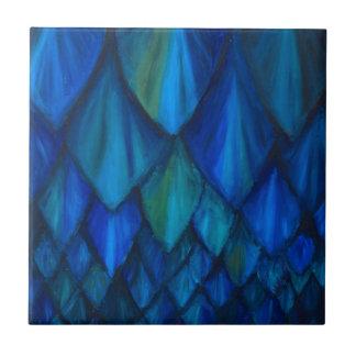 Dark Blue Cave Bat Pattern (dark blue pattern) Ceramic Tile